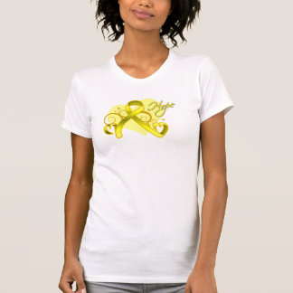 Floral Ribbon Hope - Testicular Cancer T Shirts