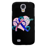 Floral Ribbon Hope - Thyroid Cancer Galaxy S4 Covers