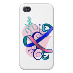 Floral Ribbon Hope - Thyroid Cancer iPhone 4/4S Cases