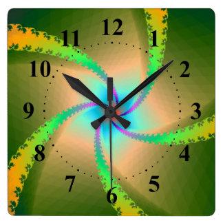 Floral Ribbons Wall Clock