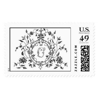 Floral Ring O Postage Stamp