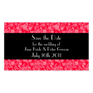 Floral Rococo Wedding, save the date mini card Double-Sided Standard Business Cards (Pack Of 100)