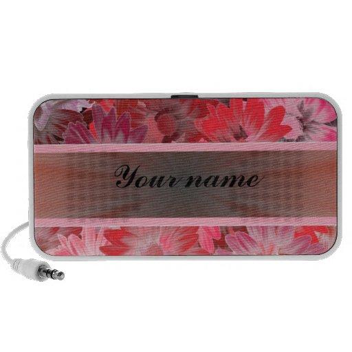 Floral rojo con la cinta notebook altavoz