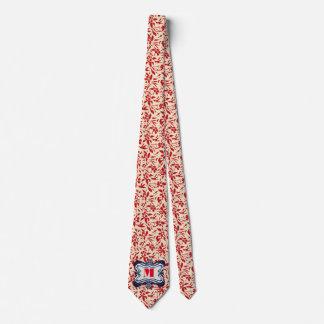 Floral rojo corbatas personalizadas