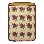 Floral rojo del vintage funda para macbook air
