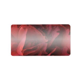 Floral rojo etiquetas de dirección