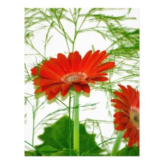 Floral rojo plantilla de membrete