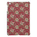 Floral rojo retro iPad mini carcasas