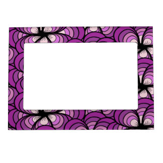 Floral Romance Magnetic Photo Frame