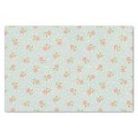 floral rosado blanco del lunar elegante lamentable papel de seda pequeño
