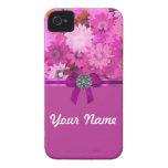 Floral rosado bonito iPhone 4 coberturas