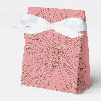 Floral rosado bosquejada cajas para regalos de boda