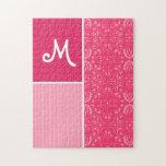 Floral rosado brillante puzzles con fotos