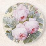 Floral rosado de Borbón de la rosaleda inglesa Posavaso Para Bebida