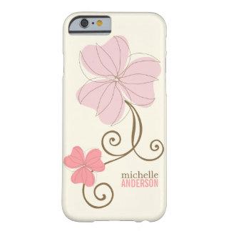 Floral rosado elegante funda de iPhone 6 barely there