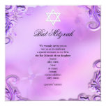 Floral rosado púrpura bonito del chica de Mitzvah Anuncio Personalizado
