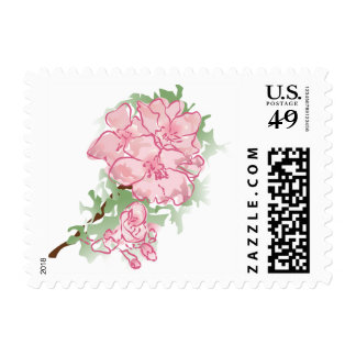 Floral rosado sellos