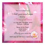 Floral rosado todo invitaciones del fiesta invitación 13,3 cm x 13,3cm