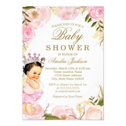 Floral rose baby princess its a girl baby shower invitation floral rose baby princess its a girl baby shower invitation filmwisefo