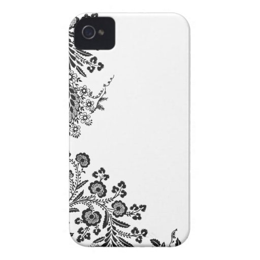 Floral rose branch silhouette iPhone 4S case cover iPhone 4 Case-Mate Cases