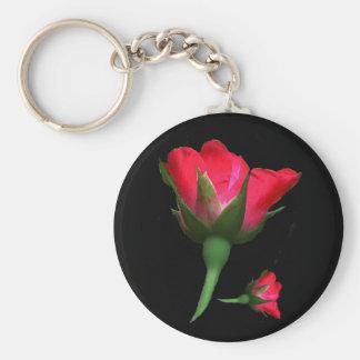 Floral Rose Bud Garden Flower Keychain