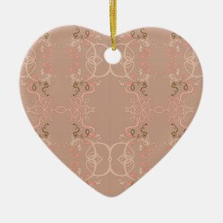 Floral rose ceramic ornament