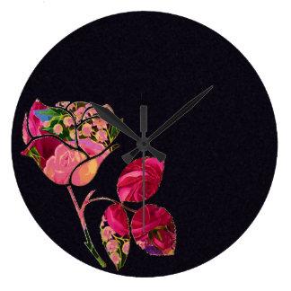 Floral Rose Clock