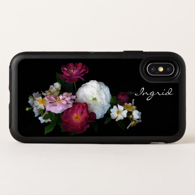 Floral Rose Flowers OtterBox iPhone X Case