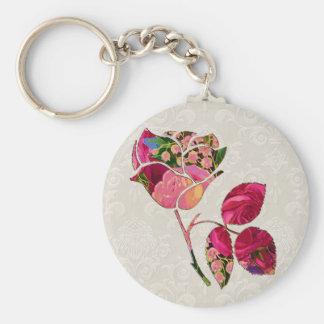 Floral Rose Motif Keychain