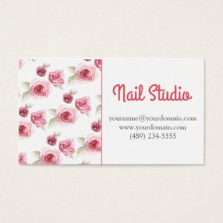 Floral Rose nail studio Business Card