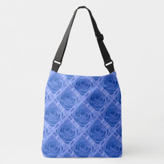 Floral Rose Photography Blue lace and Satin Crossbody Bag