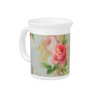 Floral Rose Pitcher