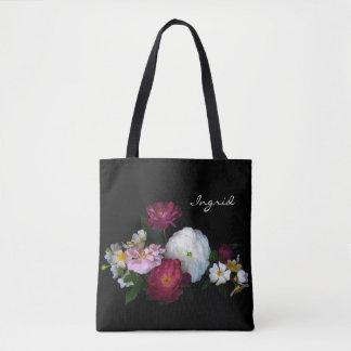 Floral Roses Flower Garden Tote Bag