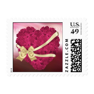 Floral Roses Heart Postage