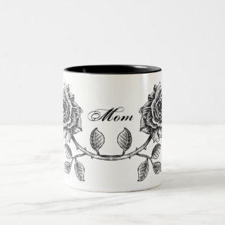 Floral Roses MOM Mug