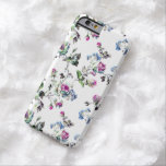 Floral Roses Pattern - Pink and Blue Barely There iPhone 6 Case