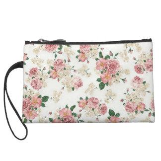 Floral Roses Wristlet Wallet