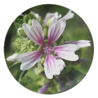 Floral Round Melamine Plate