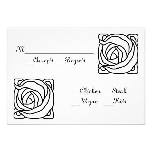 Floral RSVP Custom Invitations