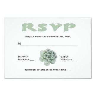 Floral RSVP Mint Green Succulent Cactus Response Card