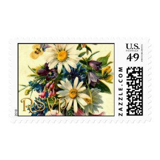 Floral RSVP Postage