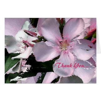 Floral ruborícese… le agradecen tarjeton