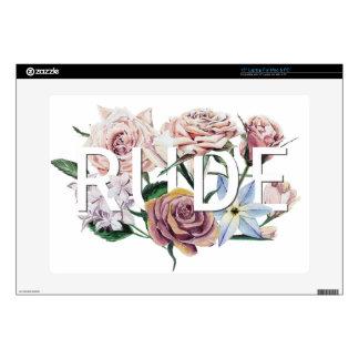 """Floral Rude 15"""" Laptop Skins"""