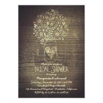Floral Rustic Mason Jar Barn Bridal Shower Card