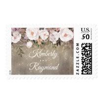 Floral Rustic Wedding Postage