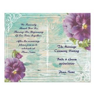 floral rustic wedding program
