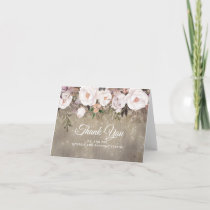 Floral Rustic Wedding Thank You