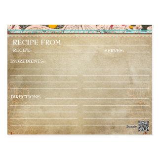 Floral rústico de la ducha de las tarjetas nupcial postales