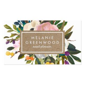 Floral rústico del vintage tarjetas de visita