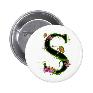 Floral S Pinback Buttons
